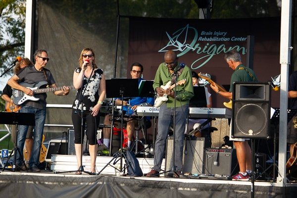 Party of Seven plays some fun tunes during the 2018 Outdoor Concert & Celebration.