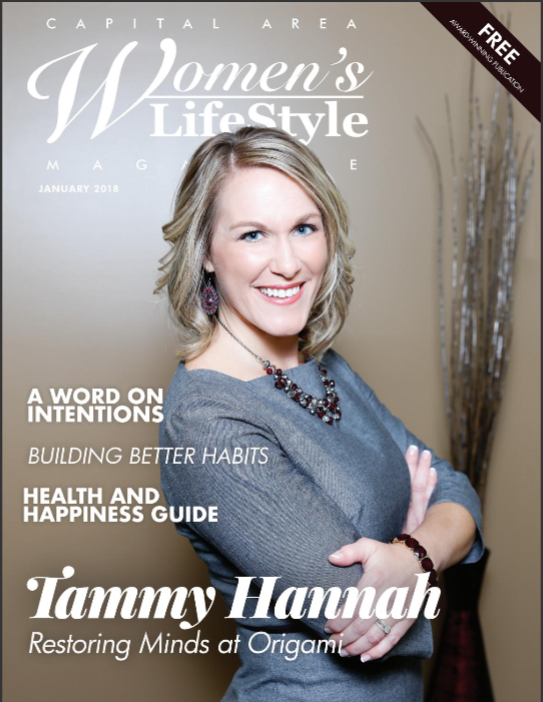 Tammy Hannah on the cover of Women's Lifestyle